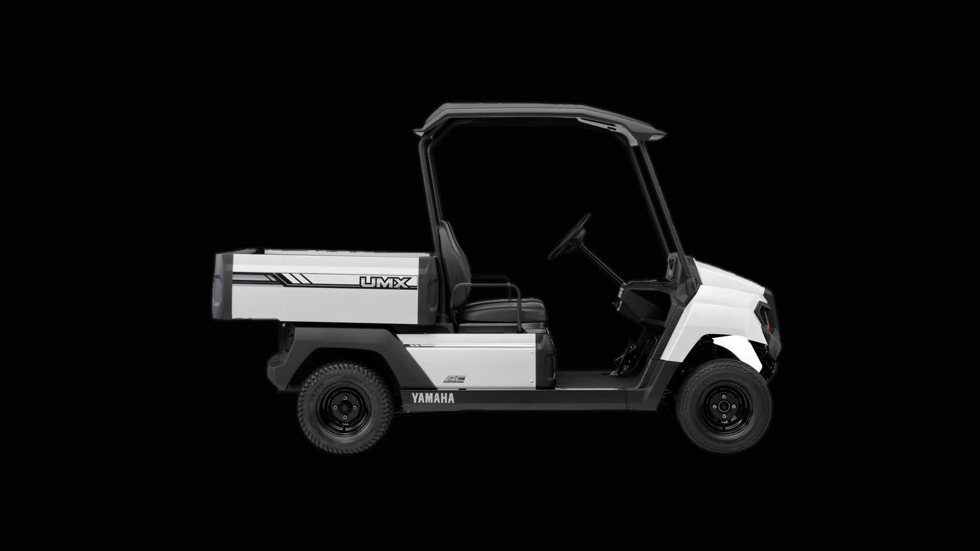 Seitenansicht Yamaha UMX Utility in weiß